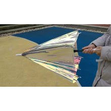 2020 new fashion promotional colourful innovative creative bubble poe material full body pvc iridescent umbrella