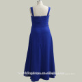 RP0044 real sample dress half sleeve jacket ruched top beaded floor length long blue evening dresses chiffon evening gowns