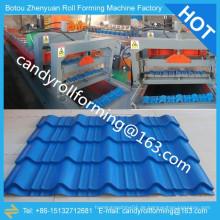 Farbe Fliesen Rollenformmaschine, Dachziegel Walze Formmaschine, Stahldach Rollmaschine