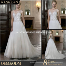 Pulseira de contas de alta qualidade A linha de vestido de noiva vestido real foto real