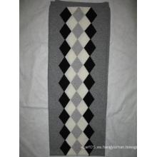 100% cachemira Intasia bufanda gris combinado