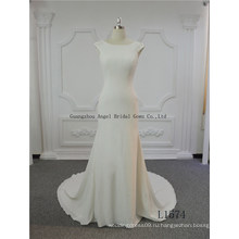 Прозрачная Креповая Ткань Европа Стиль Русалка Свадебное Платье