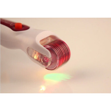 LED Light Titanium Micro Needles Derma Roller Acne
