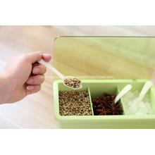 Tarro de comida picante ecológico de 3 compartimentos