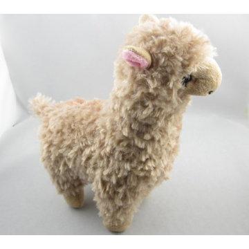 Brown animales de peluche de juguete de felpa de alpaca juguete para las niñas