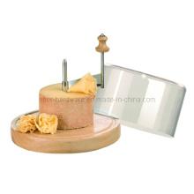 Placa de corte do queijo com tampa plástica do ABS (SE1903)