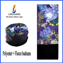 Bandana de anime LINGSHANG diseñar su propio pañuelo polar bandana multifuncional