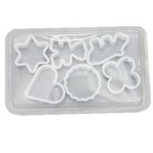 Set of 6 pcs Plastic Cookie Cutter