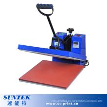 Máquina manual plana de la transferencia de la prensa del calor para la sublimación