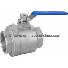 Рычаг Открыть CF8m Полный Bore 2PC шаровой кран