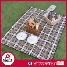 100% Polyester bedruckte Picknickdecke, Einweg Picknickdecke im Freien