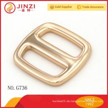 20mm exquisite glänzende Goldfarbe Tri-Gleit-Beutelteile