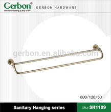 high quality wall mounted bathroom double pipe hangers