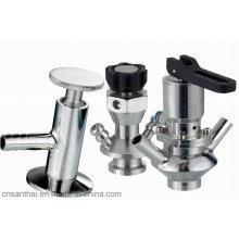Sanitária Ss304 Ss316L válvula de amostragem de aço inoxidável