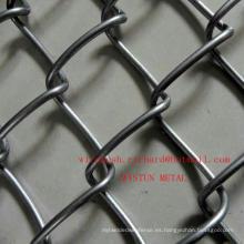 Fábrica de China galvanizado / PVC recubierto cadena de enlace de malla de alambre de diamante de la cerca