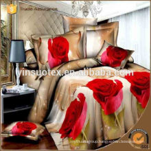 2016 Thailand New 3D Rose Fashion Microfiber Printed Bedding Set