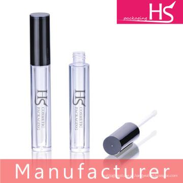 Novo design compacto com topo preto e corpo transparente tubo de brilho labial