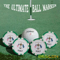 Custom Printing Cheap Golf Ball Markers