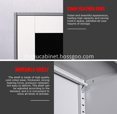 2 Door Cupboards Office File Storage Metal Cabinets