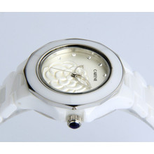 New style japan movt waterproof geneva ceramic watch for lady