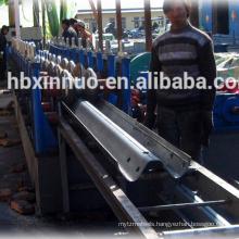 China Heibei Botou city automatic highway guardrail / crash barrier galvanized cold making machine