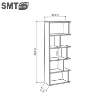 Modern multilayer stereoscopic wooden bookcase