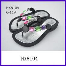 Bright diamond ladies fancy sandal sandal shoe 2015 ladies sandal shoes