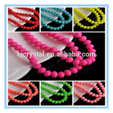 8x6mm Jelly Colour Rondelle Faceted Crystal Glass Loose Spacer Beads Jewelry Making Oblate
