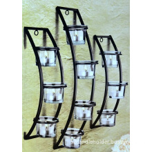 hanging metal candle holder for home decoration