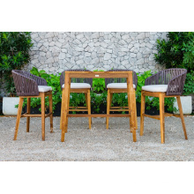Classy Design Polyethylene Rattan Outdoor Patio Garden Bar Set Wicker Furniture