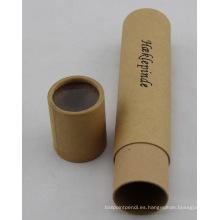Caja redonda de la cartulina del papel del lápiz de Kraft reciclable de encargo