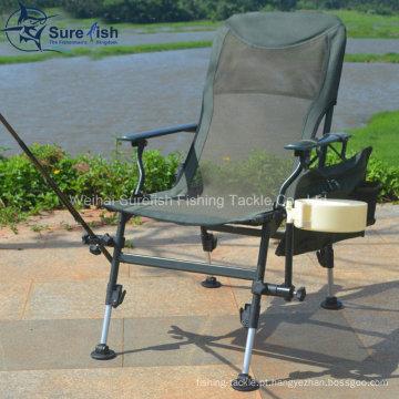 Camo cor pernas dobrável cadeira de pesca ao ar livre de carpa