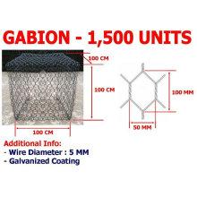 Caja de gavión de malla de alambre hexagonal Sistema de Protección