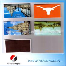 Aimant de réfrigérateur de souvenir en PVC personnalisé 3D de haute qualité