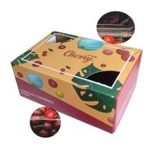 A caixa de embalagem de cereja