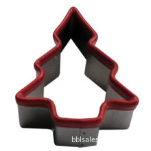 Food-grade Stainless Steel Cookie Cutter with Silicone Edge, Available in Christmas Tree Shape