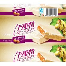 Manga plástica para el polo del hielo / la paleta / el helado / la manga del acondicionamiento de los alimentos