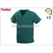 100% Cotton V Neck Hospital Uniforms , Multi Pocket Medical