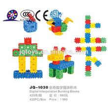 2016 crianças plástico bloco de construção educacional para vendas