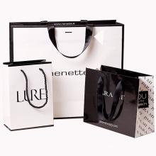 custom private brand logo design printed paper bag