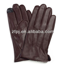 Smartphone brown Color Iphone Use Touch screen leather Glove for men