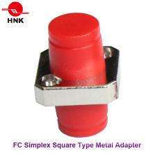 FC Simplex Tipo cuadrado adaptador de fibra óptica de metal