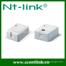 Single port plastic keystone jack Surface Mount Box