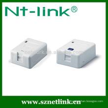 Single port plástico keystone jack caixa de montagem de superfície