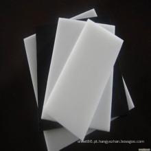 Folha plástica / haste do preto branco industrial do bom preço