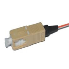 Al aire libre impermeable om3 sc fibra óptica coleta, fibra pigtail om3 0.9mm