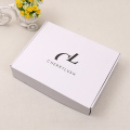 Custom logo white corrugated shipping box