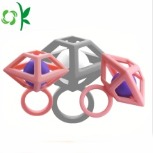 Unik Design Silikon Ring Diamond Bead Bröllop Ringar