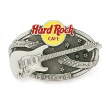 Custom Metal Guita Antique Silver Belt Buckle for Sale