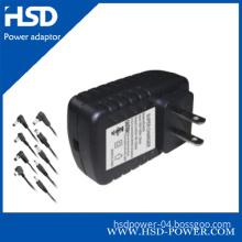 Wall Type AC Adapter 12V with UK, Eurp, Us Plug